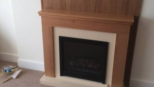 second fix carpentry services completed fireplace
