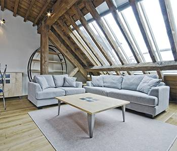 large modern loft conversion living space